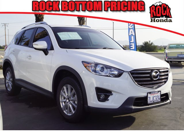 Used 2016 Mazda CX-5  crystal white pearl mica exterior black interior 6-speed automatic wod 64