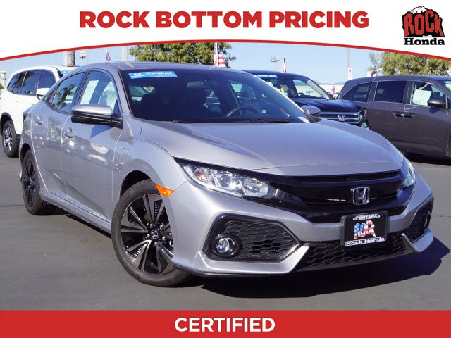 Certified Pre Owned 2017 Honda Civic Hatchback Ex